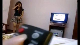 คลิปลับพริตตี้สาวไทยงานดีสวยพอตัวโดนแฟนหนุ่มแอบว่อนกล้องอัดคลิปตอนเย็ดกัน